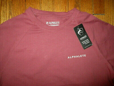 NWT Medium Alphalete Athletics Performance Fit Shirt Proud But Never Satisfied