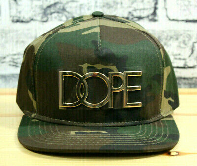 cheap for discount b7983 30f4a Dope Mens Hat Baseball 24K Gold Logo Snapback Cap Camouflage