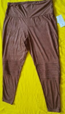 French Laundry High Waist Leggings Color Light Brown  NEW WITH TAGS