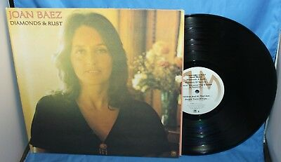 "Joan Baez Diamonds & Rust Album 12"" Lp A&m Records 1975 Sp-4527"