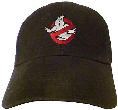 Ghostbusters NO Ghost Logo Embroidered Baseball Hat - Cap NEW OSFA or FlexFit