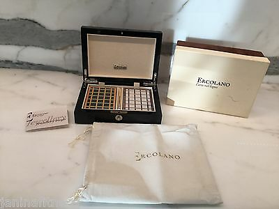 Ercolano Wooden Game Box with Cards & Pencil Black Laquer