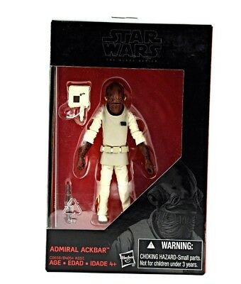 "Star Wars Black Series 3.75/"" Walmart ROTJ Admiral Ackbar Rebel Loose Complete"