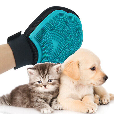 Pet Grooming Gloves Massage Mitt Hair Removers Fur Collecting Shedding Tools