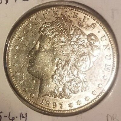 1897 S Morgan Silver Dollar; NICE CH BU; Lot M197SA12