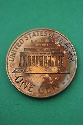 Florida Toned 1970 S Proof Lincoln Memorial Cent Flat Rate Shipping TOM69