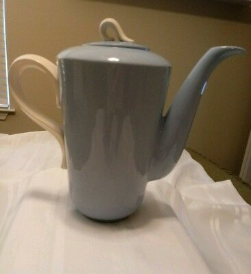 VINTAGE HOMER LAUGHLIN Undecorated Coffee Pot with Lid Skytone Blue
