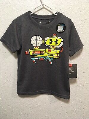 207bab8ab3 NWT UNDER ARMOUR 4T Boys Shirt UA Photochromic Ink Water Gun Tee Carbon  Heather