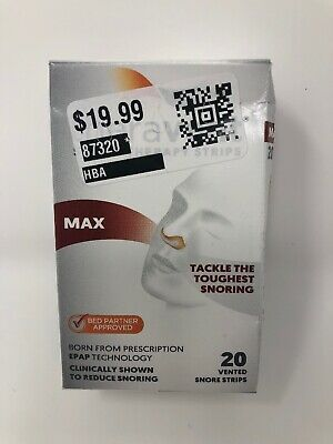 Theravent Max 20 Vented Snore Strips 10-2020