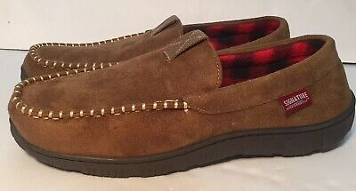 d36c5f9e816 SIGNATURE BY LEVI Strauss Men's Brown Venetian Moccasin Slippers NEW 11-12