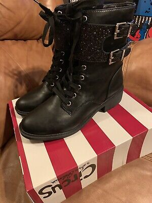 1df138ef2 Womens Circus by Sam Edelman Dorothy Lace Up Combat Riding Boots Black Size  9