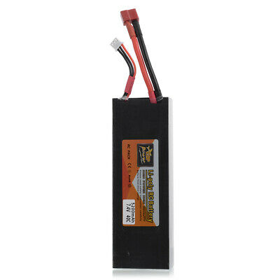 5200mAh 7.4V 2S 25C Battery Pack with T Plug Connector for RC Boat,RC Racing Car