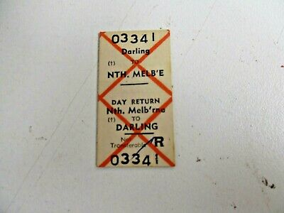 Old Vic Rail Ticket Darling To Nth Melbourne , Day Return