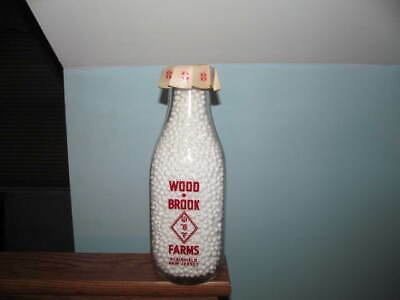 milk bottle Woodbrook Farms Plainfield, N.J. sq qt red pyro