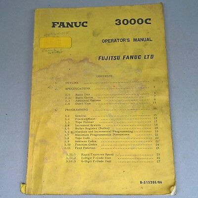 FANUC SERIES 0 00 0 Mate Operators Manual For Lathe B