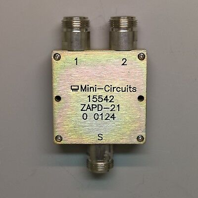 Minicircuits ZAPD-21 2-way Power Splitter Combiner 500MHz to 2GHz N Connector RF