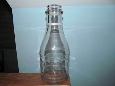 Milk bottle Knorr Irvington, N.J. 1 qt rd emb. Dacro top