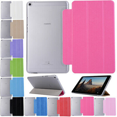 For Huawei MediaPad T2 T3 M3 M5 8.4 Leather Smart Tablet Stand Flip Cover Case