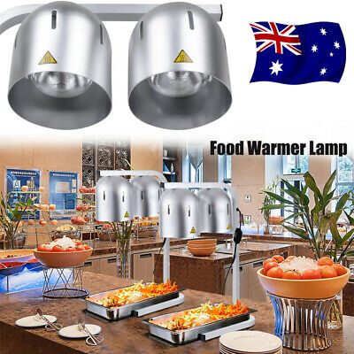 Commercial Heat Lamp Food Warmer 2-Bulb Buffet Food Court Restaurant Home Party