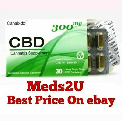 High Strength hempseed Oil Canabidol 300mg capsules MHRA approved British made