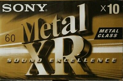 10-SONY-METAL-XR-60-audio-cassette-tapes- Excellent Sealed.
