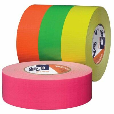 """Shurtape 139587 PC 619 2"""" Cloth Duct Tape, Fluorescent Yellow, 48mm x 55m"""