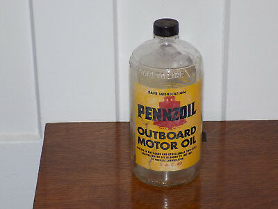Vintage Pennzoil Outboard Motor Oil Empty Bottle