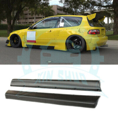 FRP Side Skirts Kit Fit For Honda Civic Hatchback (EG) 1992-1995 ab710