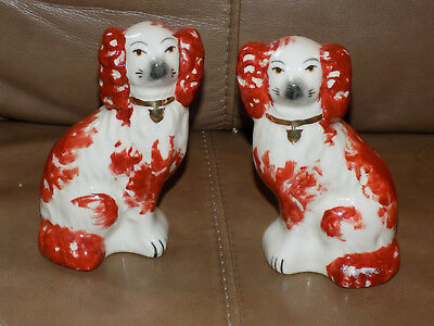 Pair of Staffordshire Spaniel Dogs