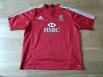 Mens Red adidas British Lions Rugby Shirt 2009 South Africa Size 2XL