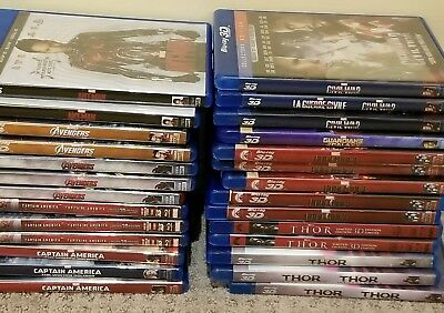 Marvel 3D blu ray movies Thor Iron Man Avengers Captain America Ant Man