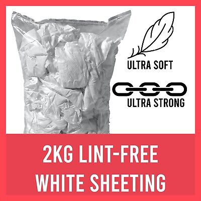 500G white lint free cotton cleaning cloths rags wipers