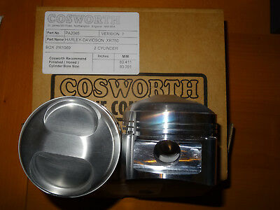 ##CLEARANCE## NEW Harley Davidson XR750 Piston Kit by Cosworth 80.411mm
