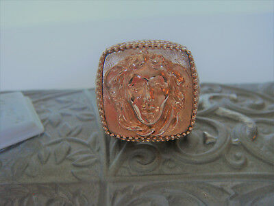 TAGLIAMONTE~ Bronze / RGP Ring *Medusa* Large* Special Pricing* Reg.$140