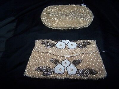Vintage Purses Two Seed Pearl Purses, Evening/Formal Purse,Ornate.Antique Purse?