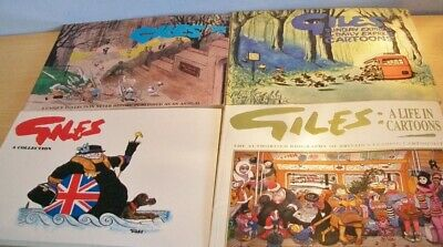 GILES Books x4 - 3rd (reprint)/ 46th/ 48th & Biography by Peter Tory