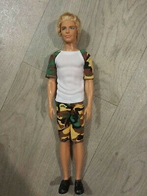 Handsome Mattel Blonde Ken doll with Rooted Hair. Dressed in casual outfit