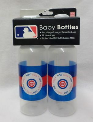 MLB Chicago Cubs Twin Pack 9 OZ Baby Bottles