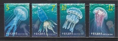 Rep. Of China Taiwan 2015 Marine Life Jellyfish Comp. Set Of 4 Stamps Mint Mnh