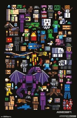 MINECRAFT - MOBBERY POSTER - 22x34 - COLLAGE 17537
