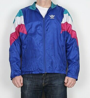 "ADIDAS Shell Suit Track Top Jacket 38"" - 40""  MEDIUM Bomber 90's  (C2G)"