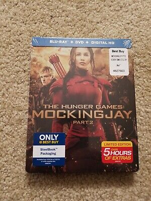 The Hunger Games: Mockingjay, Part 2 (Blu-ray/DVD, 2016, SteelBook new sealed.