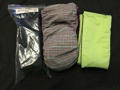 XL Washable Plaid Doggie Diapers-Male Belly Band-4XXL Long & 4 XXL Wide Pads