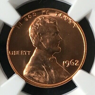 1962 1C RD Lincoln Memorial One Cent  NGC MS67RD          4665524-002