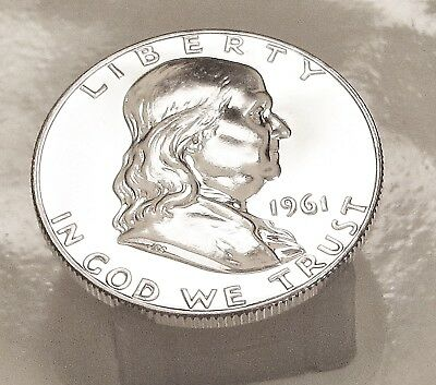 1961  Franklin   Choice  Proof   90%   Silver  >Coin  as  Pictured<  #921  10