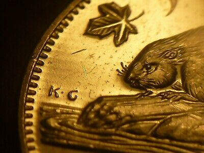 ERROR - Canada Brilliant Uncirculated 1964 5-cent with Trail Dies