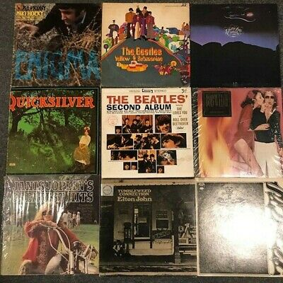 9 Classic Rock LP LOT- The Beatles, ELO, Janis Joplin, Elton John, Santana etc.