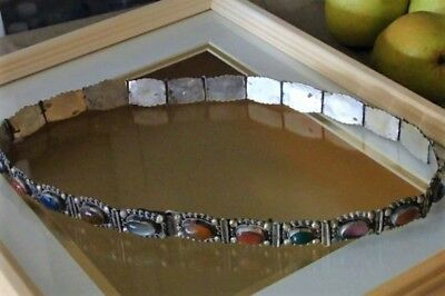 Vtg South Western Gem Silver Concho Belt Hand Crafted South Sea Trading 27.5""