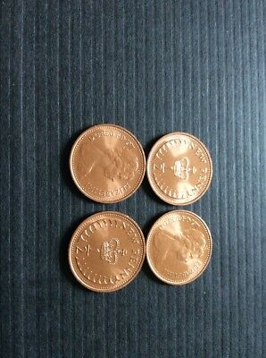 4x 1971 FIRST 1/2p HALF PENCE  COIN IN UNCIRCULATED CONDITION .