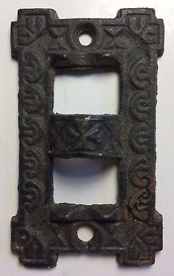 "2"" x 3 1/4"" Ornate Metal Used Vintage Flag Bracket Wall House"